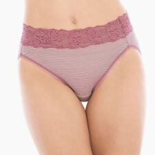 Soma Embraceable XL Super Soft High Leg Brief Micro Stripe Mini Mauve New