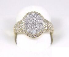Ring 14k Yellow Gold Over 2Ct Round-Cut Vvs1 Diamond Halo Engagement