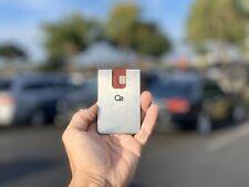 Modern, Minimalistic Small Metal Front Pocket Wallet Credit Card Holder & Cash