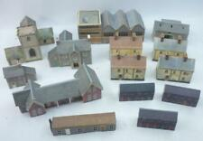 14 x N gauge KIT BUILT BUILDINGS - HOUSES CHURCH STATION etc