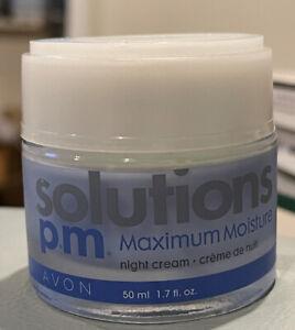 AVONSOLUTIONS PM MAXIMUM MOISTURE Night CREAM 1.7o Glass Container Discontinued