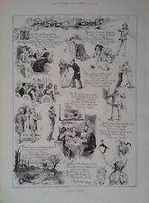 1891 PRINT TRAGEDY AND COMEDY by BERNARD PARTRIDGE