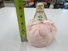 Vintage Porcelain Pin Cushion Doll / Sewing # 18