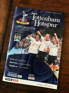 Tottenham Hotspur v. Manchester City - FA Cup 4th Round Replay 2003/04 Programme