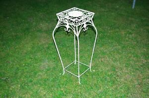 Flower Stand Side Table Metal Stool 72 CM White