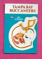 1987 FLEER TAMPA BUCCANEERS  NFL FOOTBALL STICKERS  NRMT-MT CARD (INV# C3880)