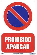 PROHIBIDO APARCAR 20 X 30 CM. CARTELES DE SEGURIDAD │ CARTELES DE SEÑALIZACION