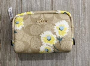 COACH Daisy Print Mini Boxy Cosmetic Case