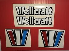 Wellcraft Outlined W 8x6   Marine Vinyl    4 decal set  Not Ink-jet printing