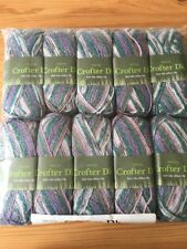 10 x 50g Sirdar Crofter Fair Isle Effect D/k Wool/Yarn For Knitting/Crochet Sh88