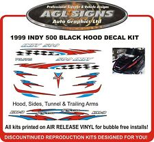 1999 POLARIS INDY 500 Reproduction Decal Kit  Black Hood  graphics stickers