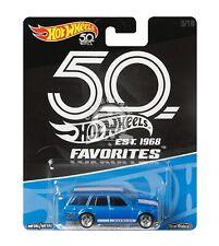 2018 Hot Wheels 50th Favorites 71 Datsun Bluebird 510 Wagon Blue JDM Real Riders