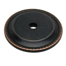 "LOT 25 LIBERTY Oil Rubbed Bronze 1-1/4"" Ribbed Knob Back Plate P33486C-VBC-C"