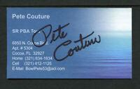Pete Couture signed autograph auto Senior PBA Tour Business Card BC411