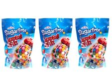 "SUGAR FREE 3 bags - assorted 1/2"" GUMBALLS 3 LBS Bulk Vending Candy Gum"