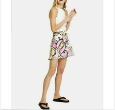 Free People Sz 10 Phoebe Printed Mini Skirt Silky Feel NWT $60