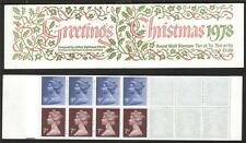 Gb 1978 Fx1 Christmas Greetings £1.60 Folded Booklet