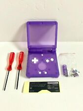 Replacement Housing for Nintendo GBA Game Boy Advance SP Shell Clear Purple Tool