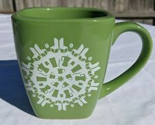 Sage Green Snowflake Square Coffee/Tea Cup by Starbucks Coffee Co. Made in China