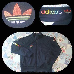 vintage Original Adidas Tracksuit Jacket Top Retro Size 10 12