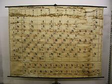 schönes altes Schulwandbild Peridensystem der chemischen Elemente 235x179cm~1960
