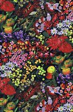 AUSTRALIANA Native Wildflowers Allover Fabric Sold Per 1/2 Metre 100% Cotton