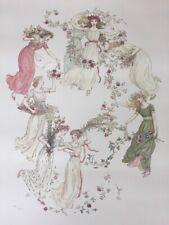 Vtg 1980 Kate Greenaway Hunt Institute Exhibition Dancing Women Art Poster Print
