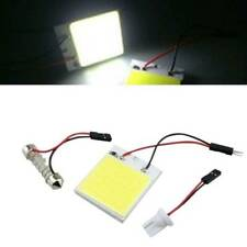 1X 48SMD LED COB Panel T10 Car Interior White Panel Light 12V 4W Dome Lamp Bulb