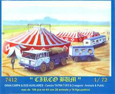 BUM Models 1/72 CIRCUS TENTS & WAGONS with ANIMALS & PEOPLE Figure Set
