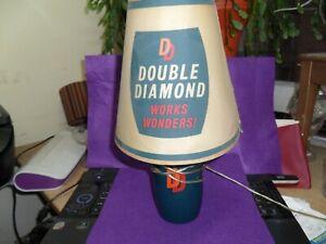 1960s double diamond  table lamp