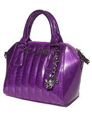 Lux de Ville Mini Lady Vamp Tote Electric Purple Sparkles Rockabilly MLVT557EPS