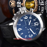 50mm PARNIS Big Face black dial day date men's quartz WATCH Full chronograph