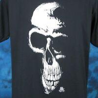 vintage 80s GRIM REAPER SKELETON PAPER THIN T-Shirt SMALL skull biker punk rock