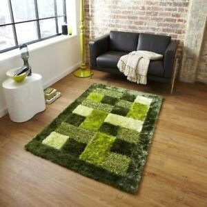 Shaggy Green  Door Mat for Home and Living Room Made Of Polyester(18 x 28 Inch)