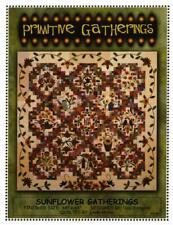 Sunflower Primitive Gatherings Garden Floral Applique Quilt Pattern