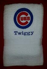3 PC CUSTOM - PERSONALIZE CHICAGO CUBS BASEBALL MLB BATH GYM & HAND TOWELS