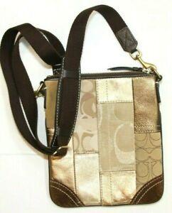 Coach Patchwork Swingpack Messenger Cross Body Handbag Purse