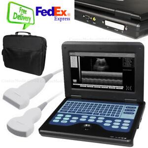 ecografo portatile, macchina ad ultrasuoni con convesso + lineare, 2 sonde, CE