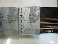 2005 Ford TRUCK F-250 F250 350 450 550 Service Shop Repair Manual SET OEM USED x