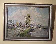 Postimpressionistisches Landschaftsgemälde, signiert