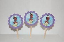 24 Princess Tiana 2 inch Cupcake Toppers