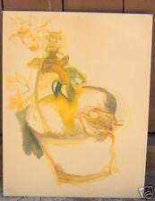 14 x 18 Oil Painting Sketch Fawcett and Pail
