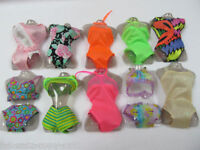 GORGEOUS CUTE & UNIQUE BARBIE DOLL SET OF 2 BIKINI'S SWIMMING COSTUME UK SELLER
