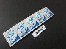 5 Pcs Core 2 Duo Sticker 19mm x 24mm - White Head Desktop Size