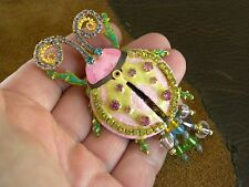 LUNCH AT THE RITZ LADY BUG PIN / PENDANT  22K GOLD ELECTROPLATED ARTICULATED