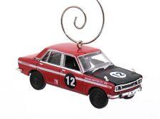 1969 Nissan Bluebird 1600 SSS Red & Black Christmas Ornament