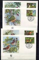 S3714) Cook Isl. 1989 MNH Wwf, Birds 4v FDC