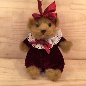 """RUBY THE TEDDY """"Red & Brown"""" Beautiful Teddy Bear Plush Soft Toy Friend (Boyle)"""
