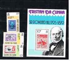 Tristan da Cuna 1979 Satz 262/64+Bl.10 Sir Rowland Hill Postfrisch