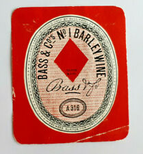 Bass,Ratcliff  & Gretton Brewers - Barley Wine  - A316  - 1 x Beer Label 1960's